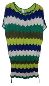 Trina Turk short dress blues and greens on Tradesy