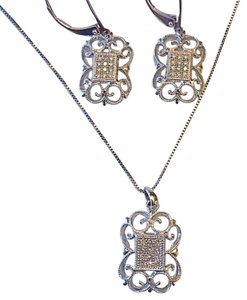 Pendant, necklace, and earrings set