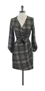Diane von Furstenberg short dress Geo Print Silk Wrap on Tradesy