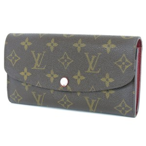 Louis Vuitton Authentic LOUIS VUITTON Portefeuille Emilie Rouge Long Wallet