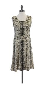 St. John short dress Cream Black Snake Print on Tradesy