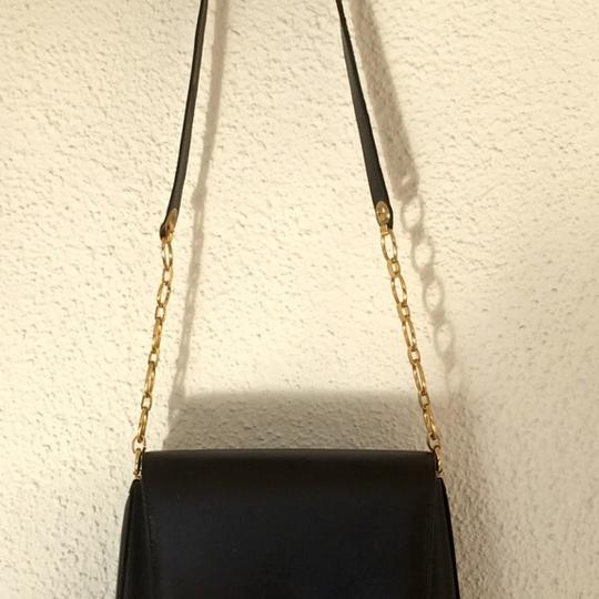 Carlo Fellini Vintage Soft Italian Leather Gold Chain And Clasp Shoulder Bag Image 2