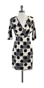 Diane von Furstenberg short dress Masako Polka Dot Silk on Tradesy