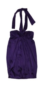 Mara Hoffman short dress Purple Silk Halter on Tradesy