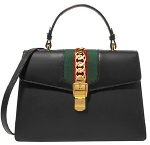 Gucci Sylvie Business Gg Tote in Black
