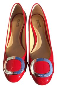 Michael Kors Patent Leather red Pumps