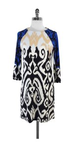 Tibi short dress Blue Black Tan & White Swirl on Tradesy