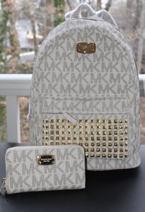 Michael Kors Studded Mk Backpack