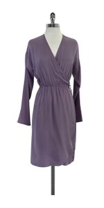 Tucker short dress Purple Silk Wrap on Tradesy
