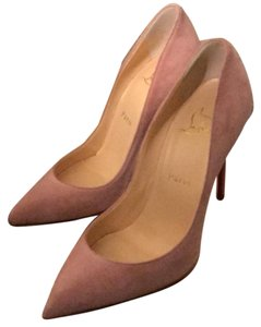 Christian Louboutin pink suede Pumps