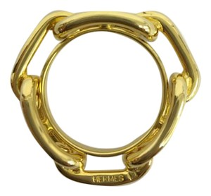 Hermès Hermes Gold-plated Regate scarf ring