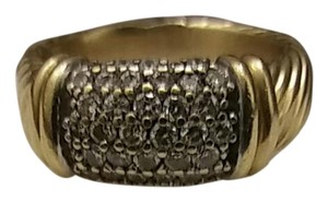 David Yurman 18k Gold Diamond Ring