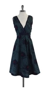 Marc Jacobs short dress Teal & Navy Floral Print A Line on Tradesy