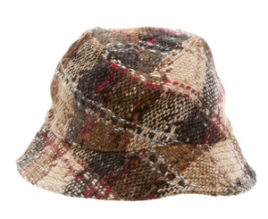 Burberry Tan, black Burberry Nova check monogram wool bucket hat