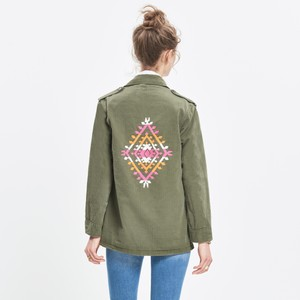 Madewell x jm drygoods Vintage Army Embroidered Military Jacket
