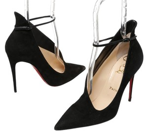 Christian Louboutin Louboutin Red Soles Suede Black Pumps