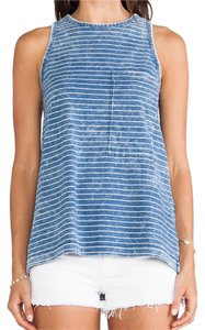 Rag & Bone And & Striped Indigo Top Indigo Stripe