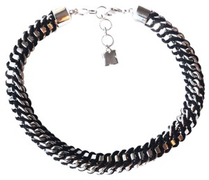 BCBGMAXAZRIA silver black necklace