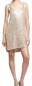 Diane von Furstenberg short dress Gold on Tradesy