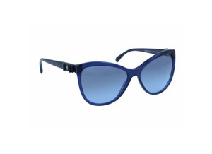 Chanel Chanel 5281-Q Blue Bow CC logo cat-eye shaped Sunglasses