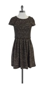 Tibi short dress Brown Tweed Cap Sleeve on Tradesy