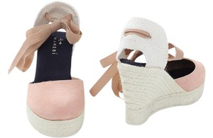 Manebi Pink Espadrille Brand New Dusty Rose Wedges
