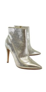 Alice + Olivia Gold Metallic Leather Boots