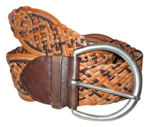 Linea Pelle hand made wide woven leather