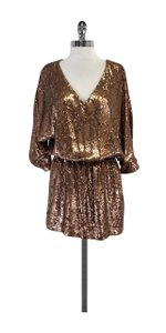 Haute Hippie short dress Bronze Sequin on Tradesy