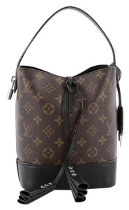 Louis Vuitton Canvas Leather Bucket Tote