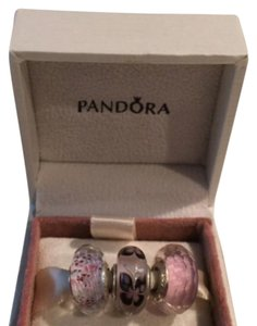 PANDORA Pandora Pink Faceted Butterfly Murano Set