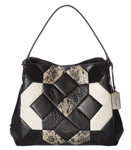 Coach 38369 Chalk Black Canyon Quilt Exotic Edie Hobo Bag