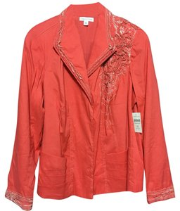 Coldwater Creek coral Blazer