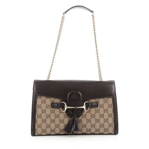 Gucci Chain Strap Canvas Shoulder Bag