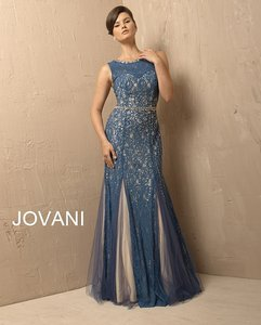 Jovani Royal/Nude Jovani 082a Dress