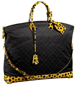 Louis Vuitton Rare Polka Dot Gm Monogram Yayoi Kusama Tote in Black yellow