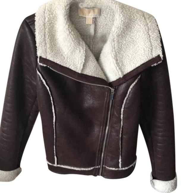 Item - Dark Brown Faux Shearling Coat Jacket Size 4 (S)