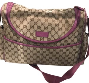 Gucci pink Diaper Bag