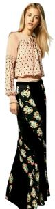 Free People Maxi Skirt Black, red, blue