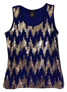 Covington Sequin Medium Top Royal Blue & Silver