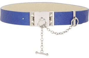 BCBGMAXAZRIA blue silver toggle belt size Small