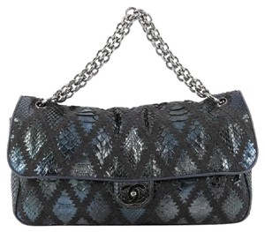 Chanel Soft Chain Flap Python Shoulder Bag