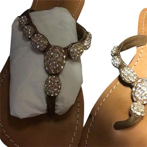 Mystique Boutique Embellished copper Sandals