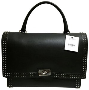 Givenchy Shark Stud Trim Tote Made In Italy Satchel in Black