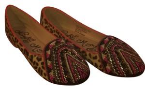 Naughty Monkey Black, Pink, White, and Leopard Flats