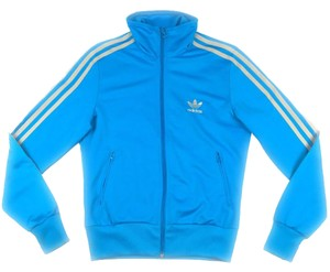 adidas Striped Black Athletic blue Jacket