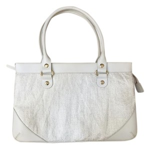 Kate Spade Leather Fabric Satchel in White