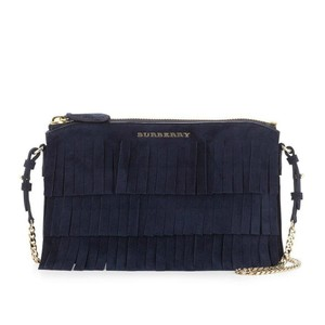 Burberry Suede Fringed Peyton Cross Body Bag