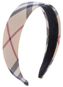 Burberry Beige, black Burberry Nova Check print headband