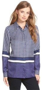 MICHAEL Michael Kors Petite Print Shirt Longsleeve Geometric Button Down Shirt